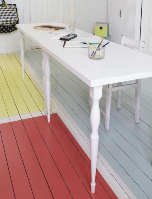Kleur vloer schilderen