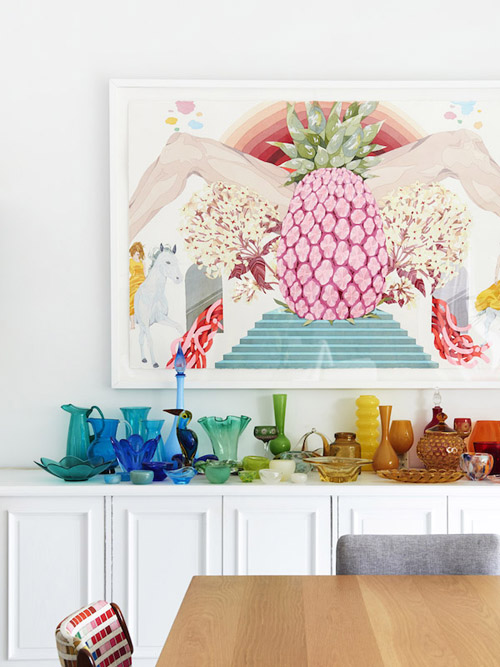 Kleurige woonkamer