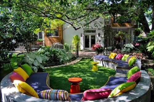 Kleurrijk tuin ontwerp