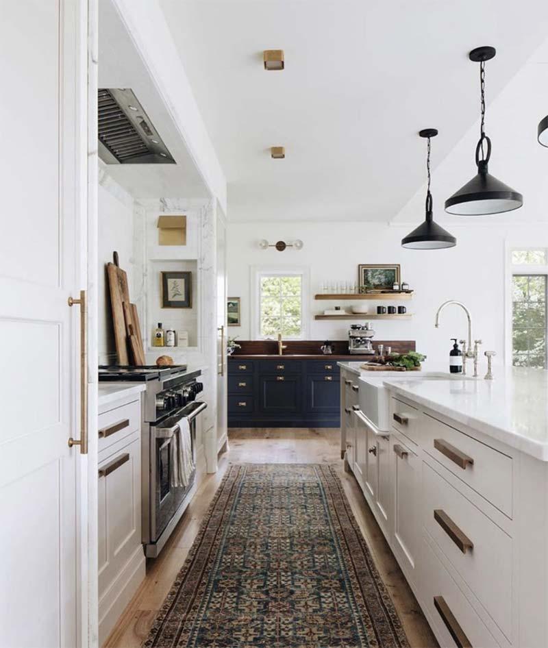 kleurrijk vintage vloerkleed keuken