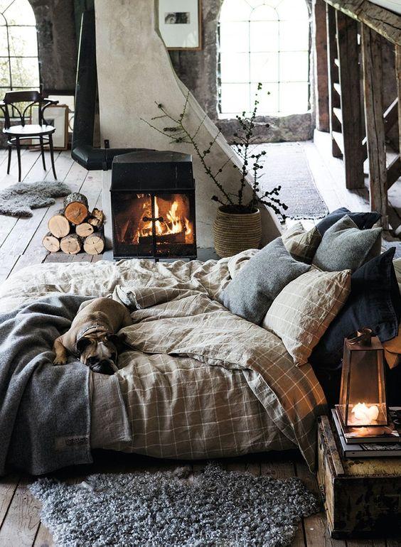 Knus warm winter interieur