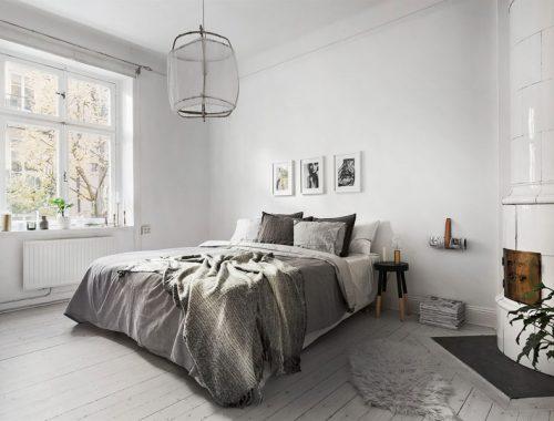 Knusse witte slaapkamer