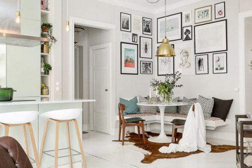 Keuken Met Zithoekje : Lichte woonkamer met open keuken en zithoek