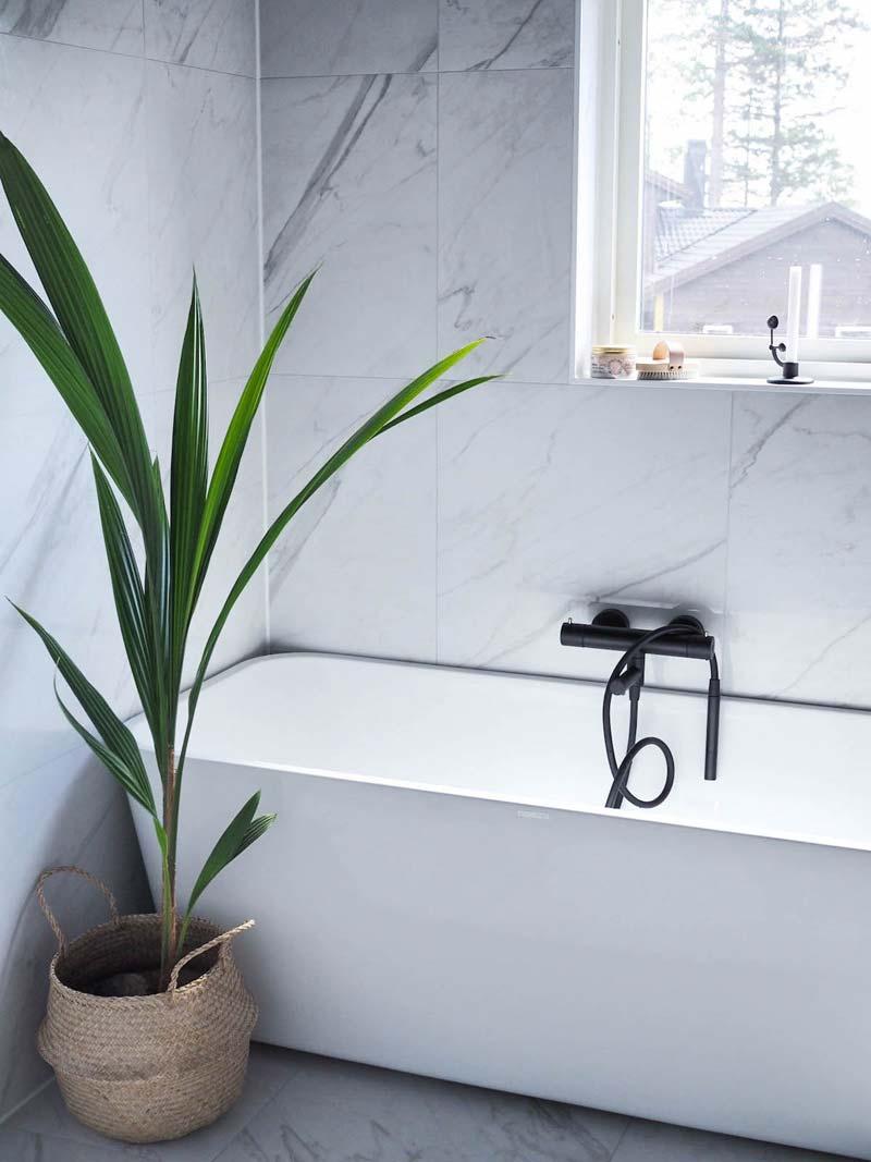 kokospalm badkamer