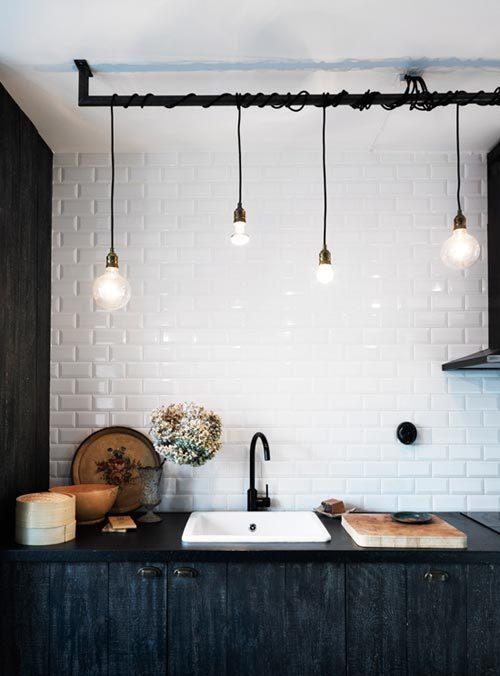 Kooldraad lampen keuken