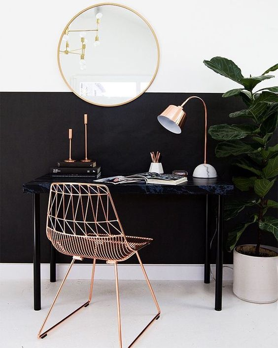 koperen-bureaustoel