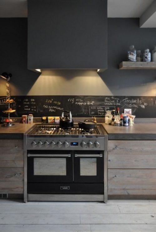 Krijtbord in keuken