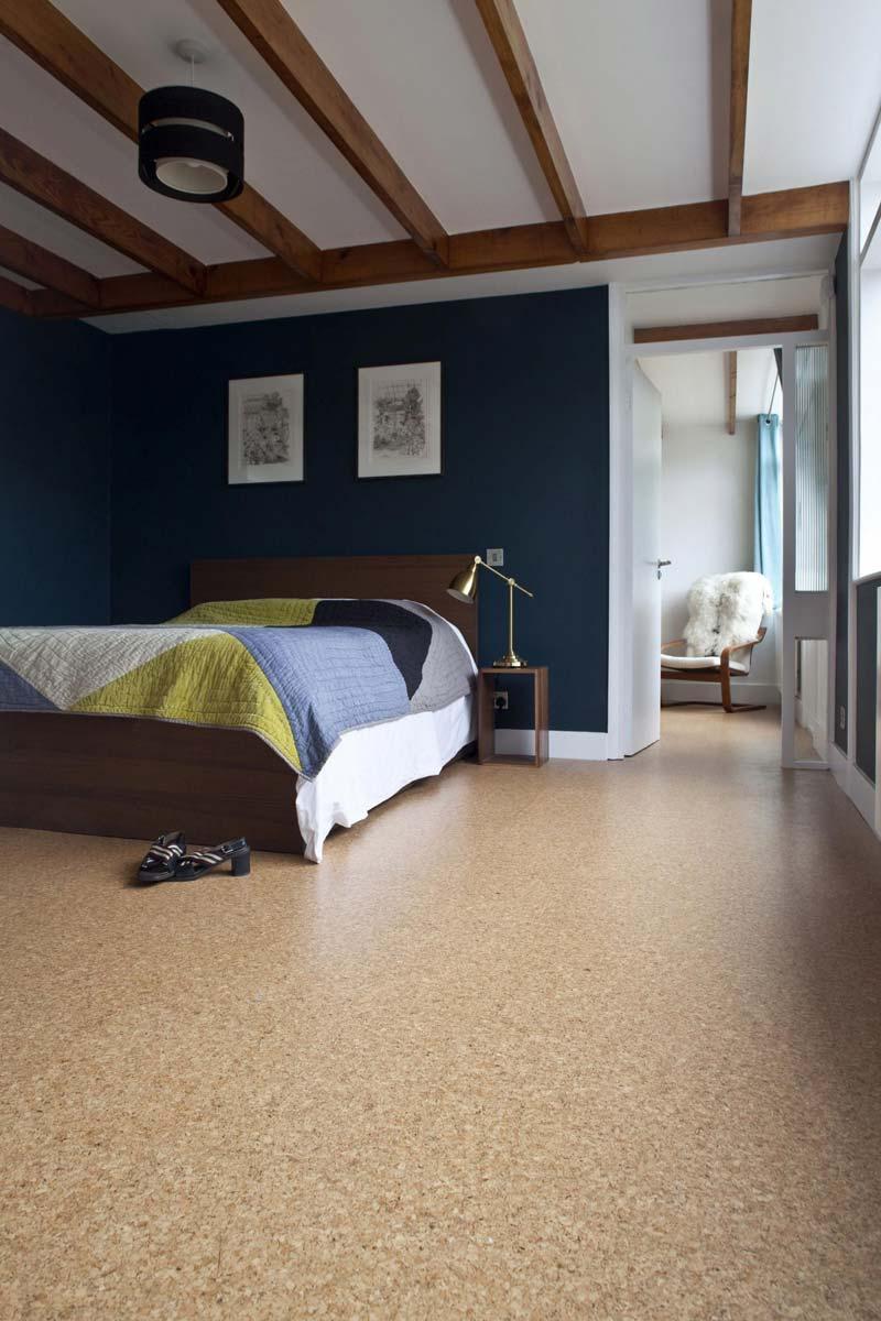 kurkvloer slaapkamer