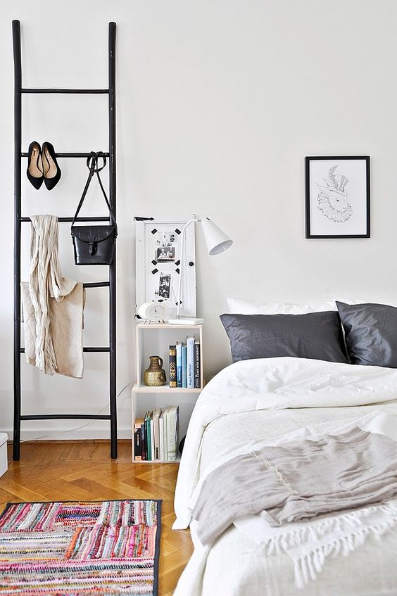 ladder-kledingrek-slaapkamer