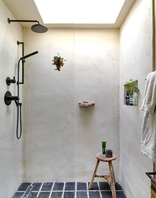 landelijke badkamers voorbeelden zwarte douche