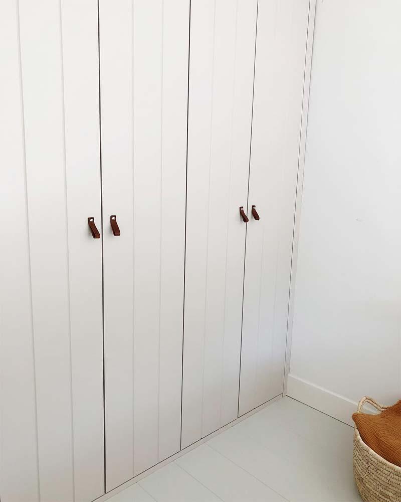 leren deurgrepen kledingkast