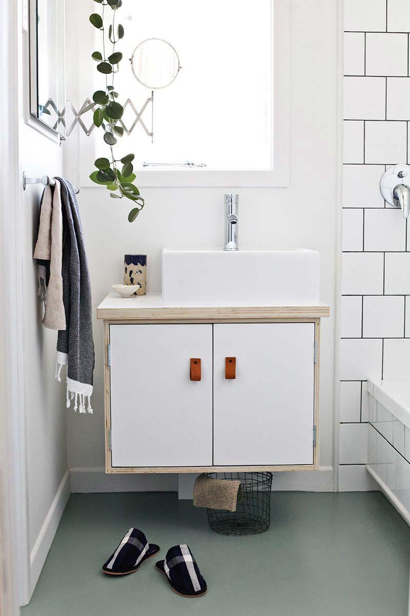 leren handgrepen badkamermeubel