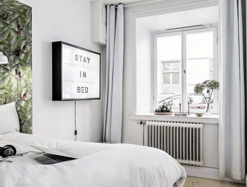 Letterverlichting in de slaapkamer