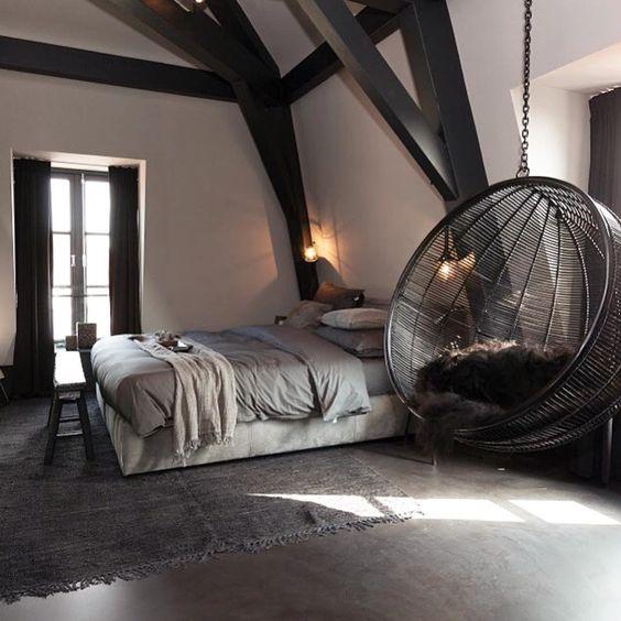 leuke hangstoel slaapkamer