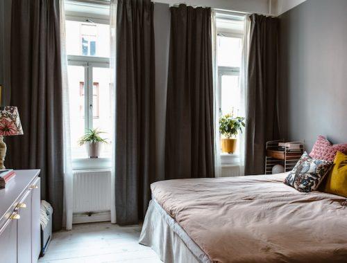 Leuke vintage slaapkamer van Karolina en Erik