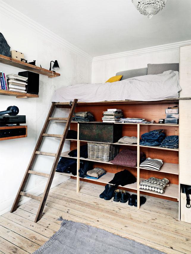 leuke wandplanken slaapkamer
