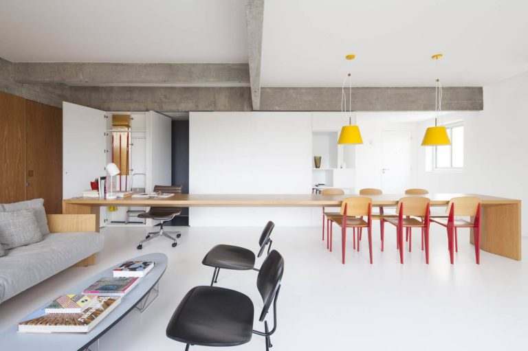 Licht en modern appartement door architect Andrea Helou