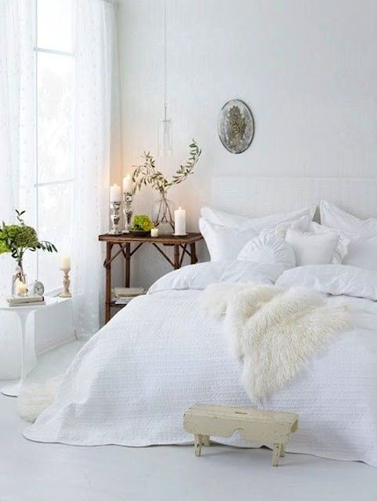 Een lichte slaapkamer
