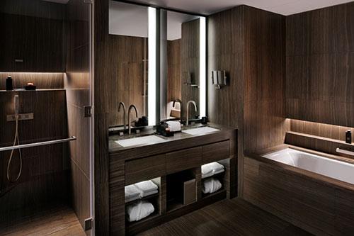 Luxe badkamer Armani hotel