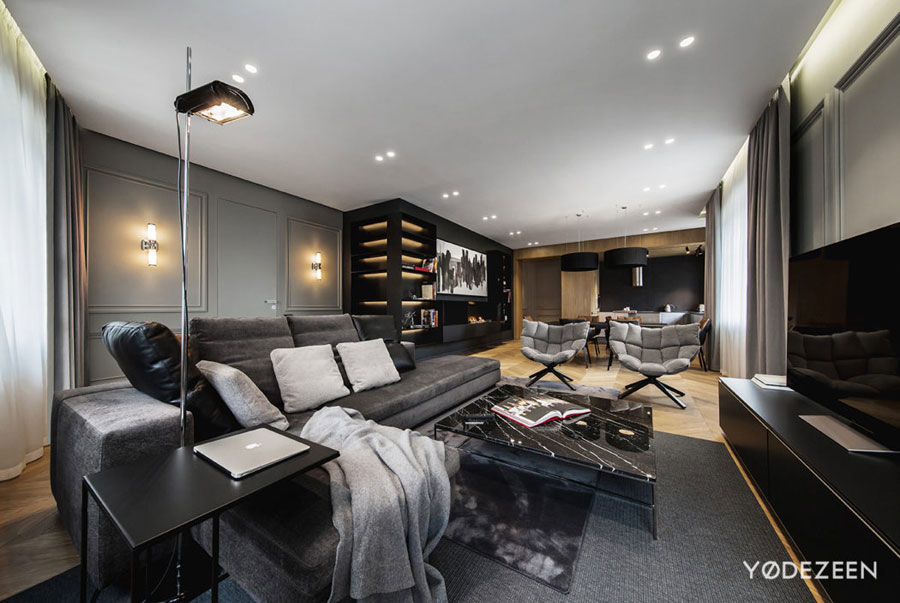 Luxe elegante hi-end woonkamer