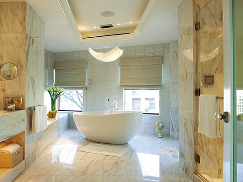 Luxe  marmer badkamer