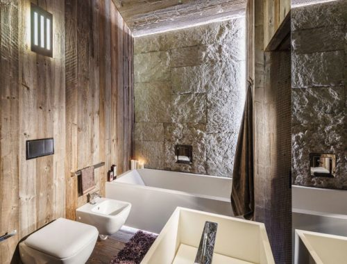 Luxe moderne rustieke badkamer