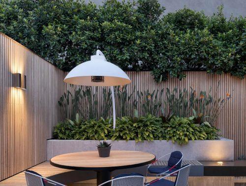 Luxe moderne u-vormige tuin