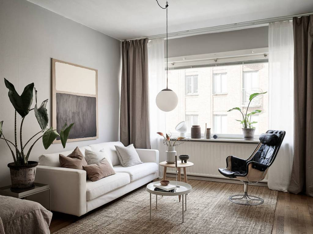 luxe woonkamer hanglamp glas