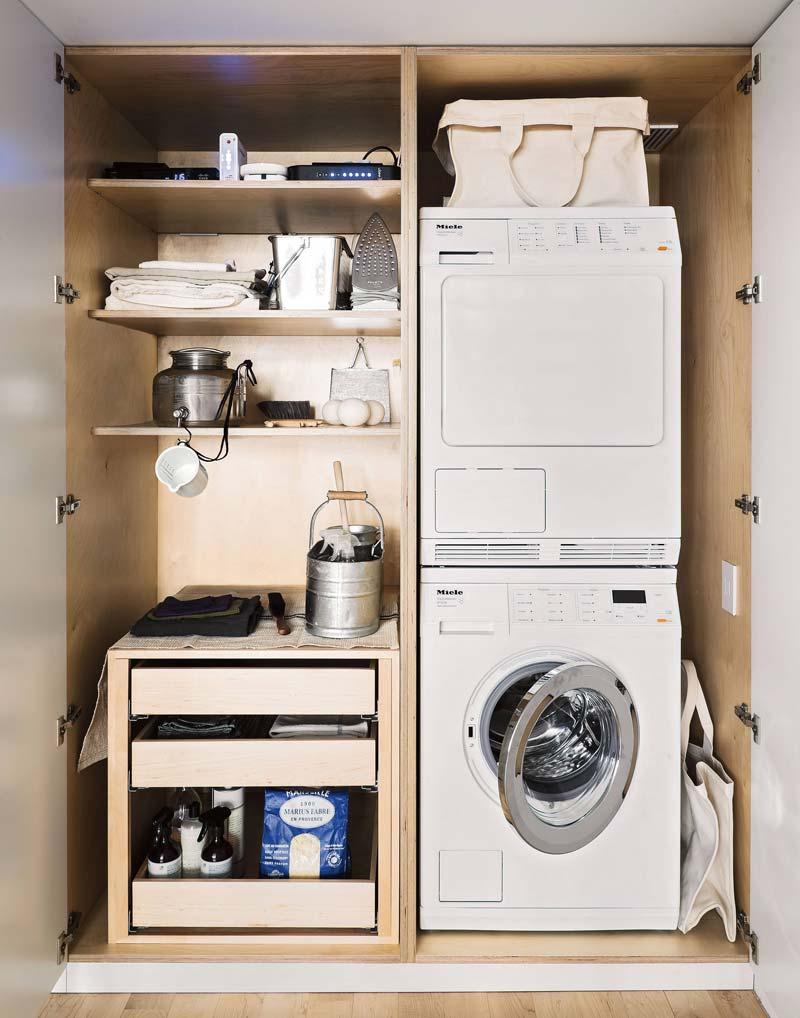 Maatwerk wasmachine kast