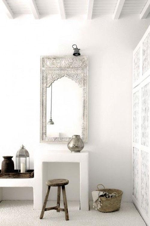 Marokkaanse badkamerspiegel