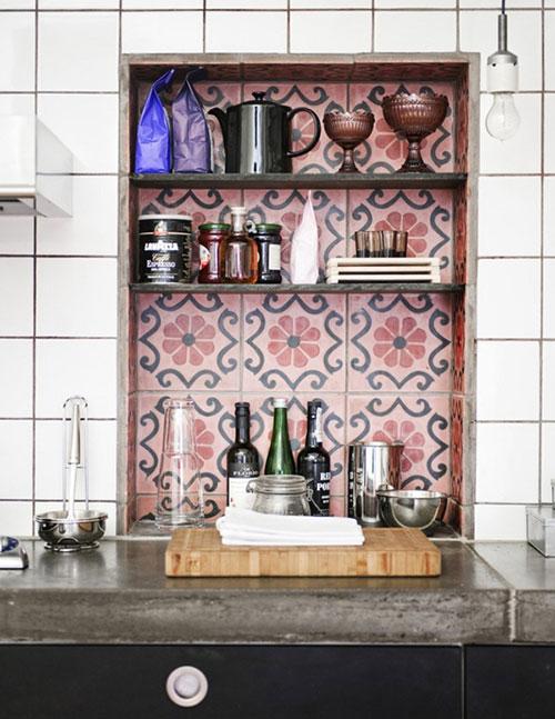 Marokkaanse tegels in de keuken