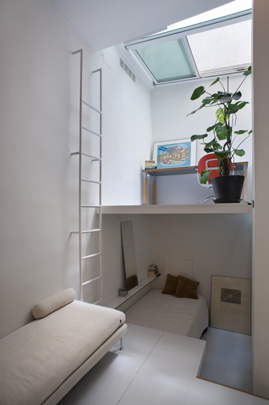 Een mini appartement in Madrid