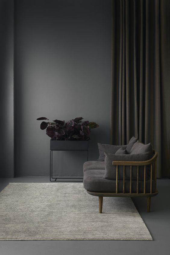 minimalistisch grijs interieur
