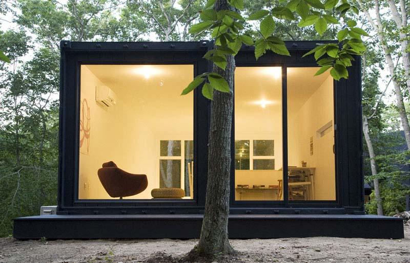 minimalistische containerwoning