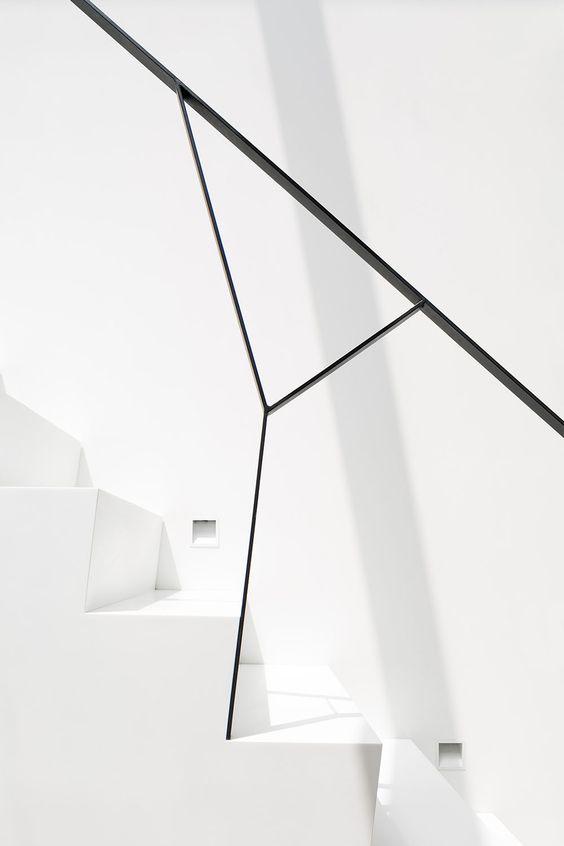 minimalistische design trapleuning