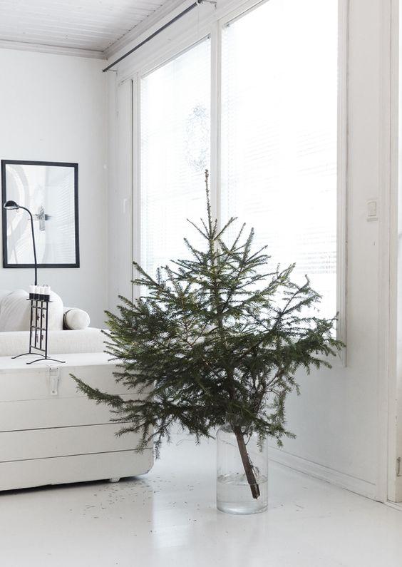 Minimalistische kerstboom