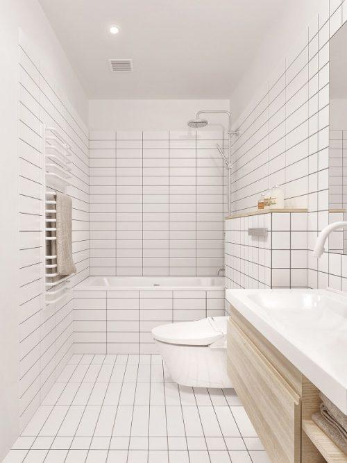 minimalistische witte badkamers voorbeelden