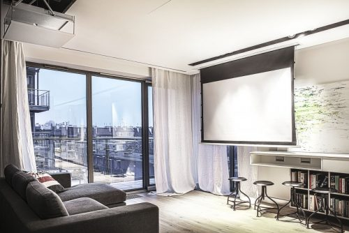 Modern appartement met day en night gedeeltes