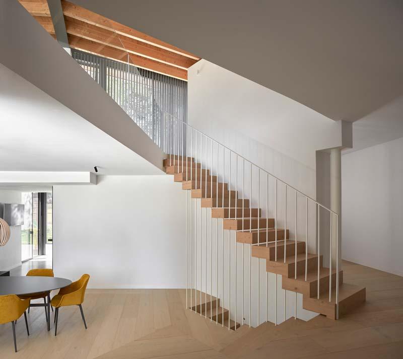 modern interieur strakke witte muren