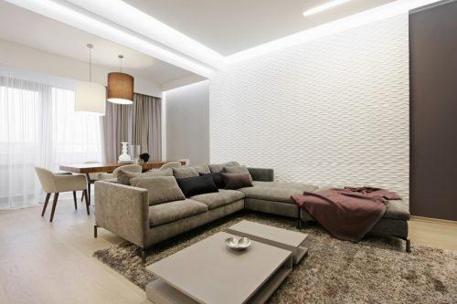 Scandinavisch Appartement Inspiratie : Modern scandinavisch appartement met grijs huis inrichten