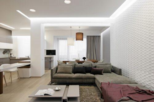 Modern Scandinavisch appartement met grijs