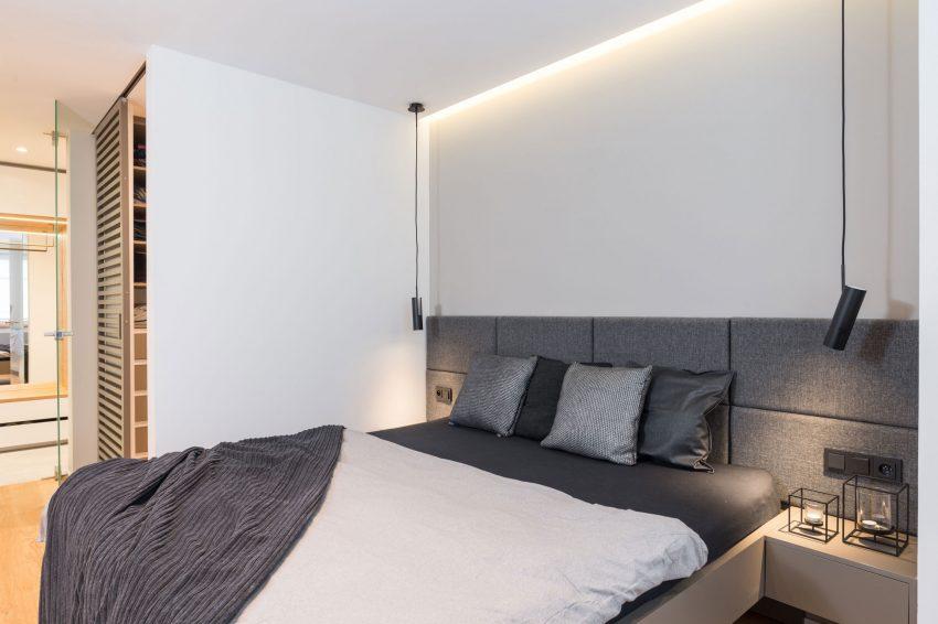 Modern slaapkamer ontwerp met grijs en hout huis inrichten.com