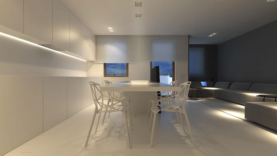 Modern, strak en minimalistisch interieur