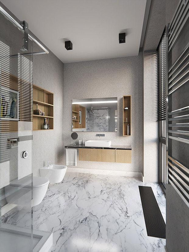 moderne badkamers voorbeelden grijs
