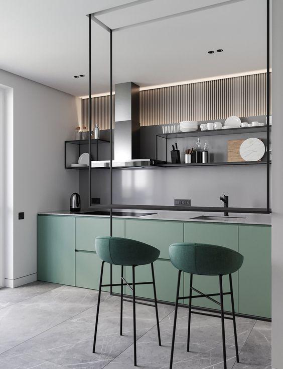 moderne groene keuken inspiratie