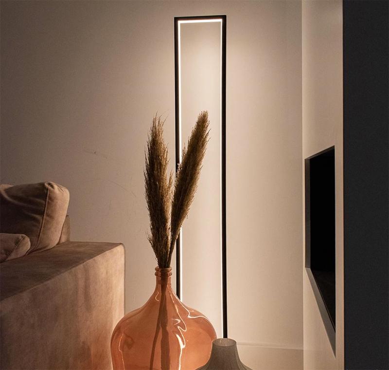 moderne industriële vloerlamp led strip