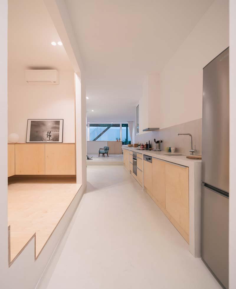 moderne keuken houten deuren