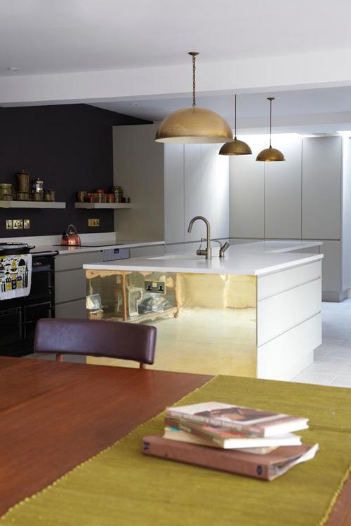 Moderne keuken met vintage invloeden