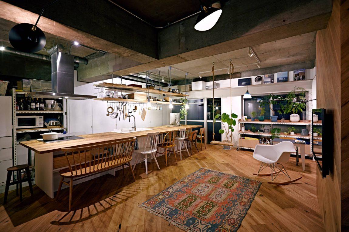 Moderne kindvriendelijke woonkeuken