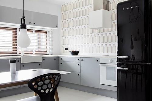 Moderne l-vormige open keuken